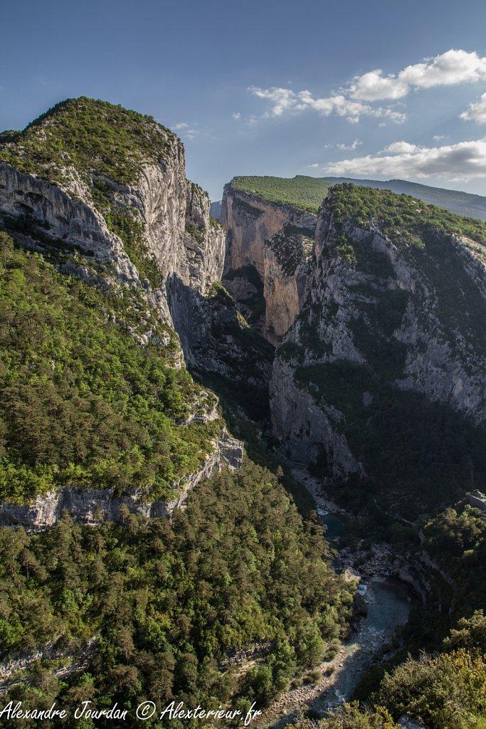 Entrée des gorges du Verdon depuis le Point Sublime