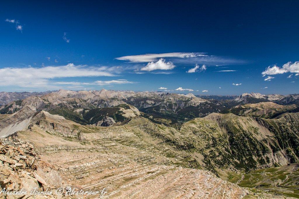 Vue depuis la tête de l'Estrop (2961 m)