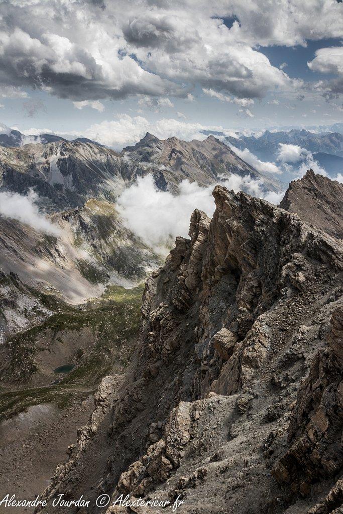 Coté alien depuis la Tête de la Fréma (3151 m)