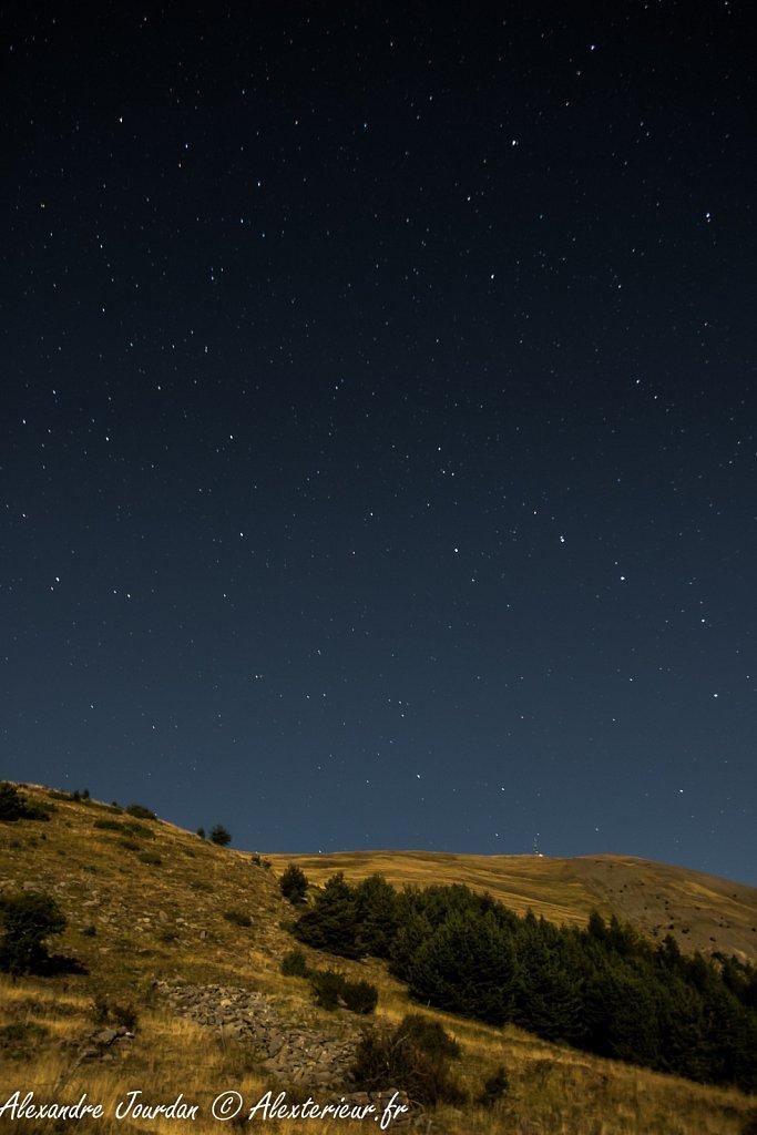 Le sommet du Blayeul (2189 m), une nuit de Septembre